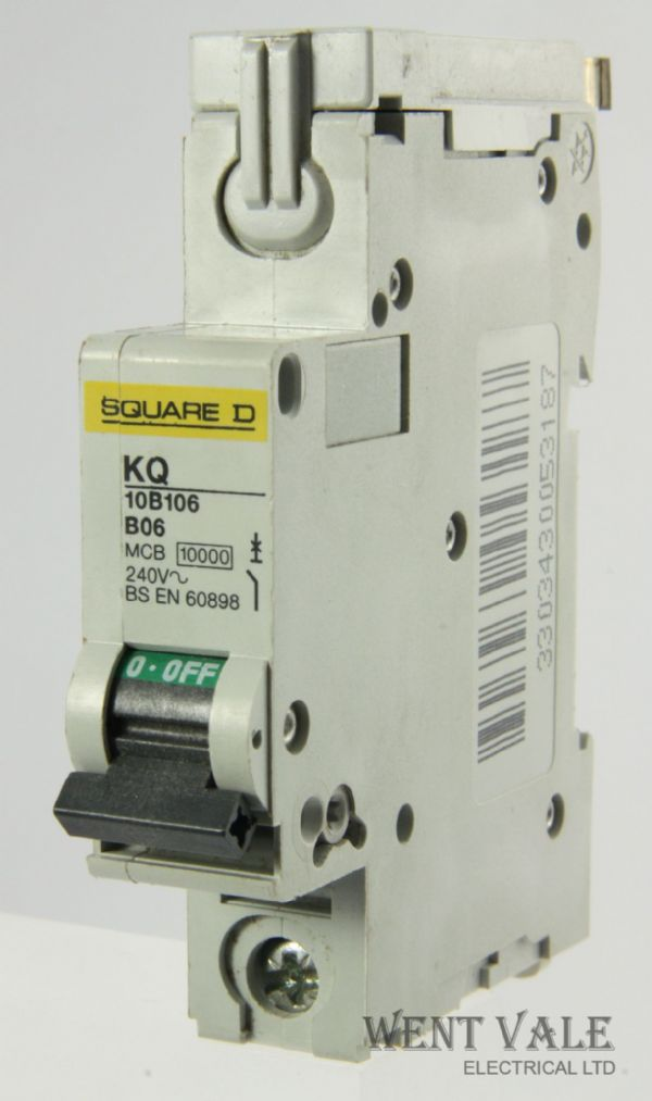 Square D Loadcentre - KQ10B106 - 6a Type B Single Pole MCB Used